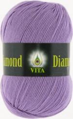 Пряжа для вязания Vita Diamond (Вита Даймонд) Цвет 2310 сиреневый
