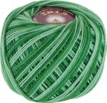 Vita Cotton Iris Print Цвет 2202 зеленая бирюза меланж