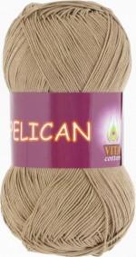 Пряжа для вязания Vita Cotton Pelican (Вита Пеликан) Цвет 3954 бежевый