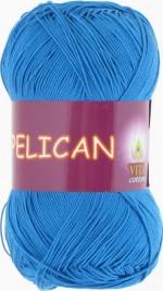 Пряжа для вязания Vita Cotton Pelican (Вита Пеликан) Цвет 4000 ярко-голубой