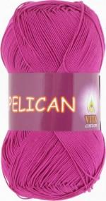 Пряжа для вязания Vita Cotton Pelican (Вита Пеликан) Цвет 4002 цикламен