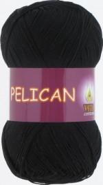 Пряжа для вязания Vita Cotton Pelican (Вита Пеликан) Цвет 3952 черный