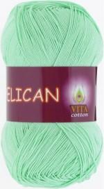 Пряжа для вязания Vita Cotton Pelican (Вита Пеликан) Цвет 3964 светло-салатовый