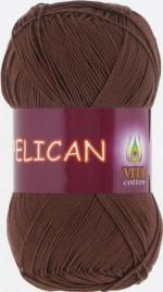 Пряжа для вязания Vita Cotton Pelican Цвет 3973 светлый шоколад
