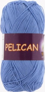 Пряжа для вязания Vita Cotton Pelican (Вита Пеликан) Цвет 3975 лазурь