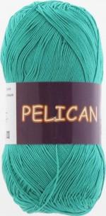 Пряжа для вязания Vita Cotton Pelican (Вита Пеликан) Цвет 3979 зеленая бирюза