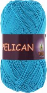 Пряжа для вязания Vita Cotton Pelican (Вита Пеликан) Цвет 3981 голубая бирюза