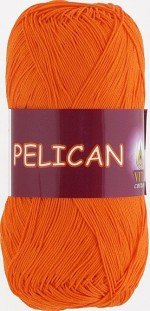Пряжа для вязания Vita Cotton Pelican (Вита Пеликан) Цвет 3994 морковный