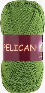 Пряжа для вязания Vita Cotton Pelican (Вита Пеликан) Цвет 3995 молодая зелень