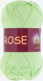 Пряжа для вязания Vita Cotton Rose (Вита Роза) Цвет 3910 светло-салатовый