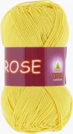 Пряжа для вязания Vita Cotton Rose (Вита Роза) Цвет 3916 светло-желтый