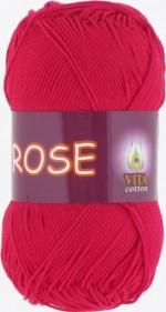 Пряжа для вязания Vita Cotton Rose (Вита Роза) Цвет 3917 красный