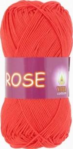 Пряжа для вязания Vita Cotton Rose (Вита Роза) Цвет 4252 красный коралл
