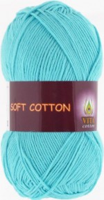 Vita Cotton Soft Cotton Цвет 1809 светлая голубая бирюза