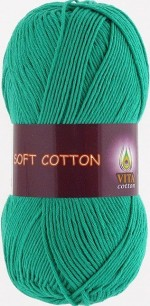 Vita Cotton Soft Cotton Цвет 1819 зеленая бирюза