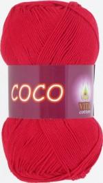 Пряжа для вязания Vita Cotton Coco Цвет 3856 красный