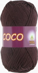 Пряжа для вязания Vita Cotton Coco Цвет 4322 темный шоколад