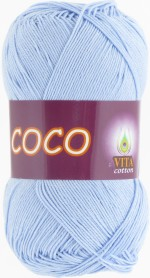 Пряжа для вязания Vita Cotton Coco (Вита Коко) Цвет 4323 светлый голубой