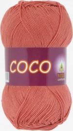 Пряжа для вязания Vita Cotton Coco (Вита Коко) Цвет 4328 дымчатый коралл