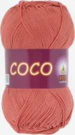 Пряжа для вязания Vita Cotton Coco Цвет 4328 дымчатый коралл