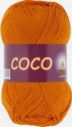 Пряжа для вязания Vita Cotton Coco (Вита Коко) Цвет 4329 золото