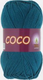Пряжа для вязания Vita Cotton Coco (Вита Коко) Цвет 4330 морская волна
