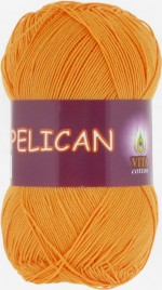 Пряжа для вязания Vita Cotton Pelican (Вита Пеликан) Цвет 4007 желток