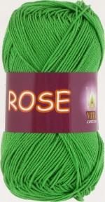 Пряжа для вязания Vita Cotton Rose (Вита Роза) Цвет 3935 молодая зелень