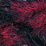 Пряжа для вязания YarnArt Rabbit (Ярнарт Раббит) Цвет 557 черный красный