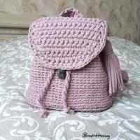 Пыльно-розовый рюкзак от автора Алена
