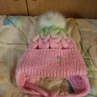 Детская шапочка с ушками и градиентом от автора Татьяна Будянская