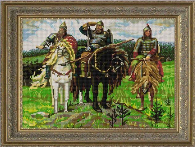 Вышивка крестиком три богатыря 47